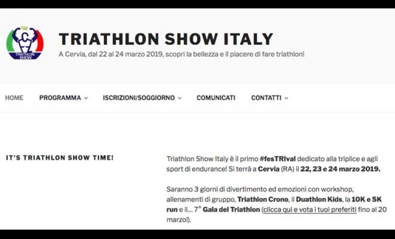 TRIATHLON SHOW ITALY, TUTTO PRONTO A CERVIA